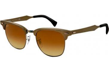 Ray-Ban CLUBMASTER ALUMINUM RB3507 Bifocal Prescription Sunglasses RB3507-139-85-51 - Lens Diameter 51 mm, Lens Diameter 51 mm, Frame Color Brushed Bronze/gunmetal