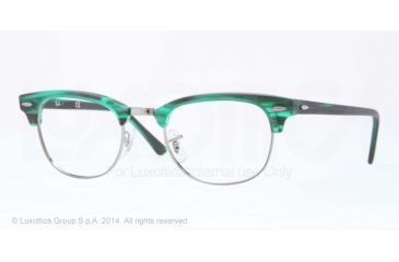 Ray-Ban Clubmaster Eyeglass Frames RX5154 5256-49 - Matte Stripped Green Frame
