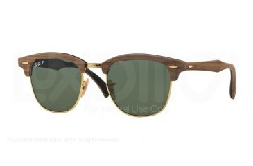 451f0e70c3ece Ray-Ban CLUBMASTER M RB3016M Sunglasses 118158-51 - Walnut Rubber Black  Frame