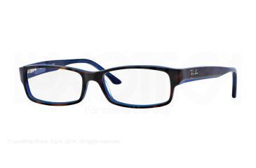 Ray-Ban Eyeglasses RX5114 with Lined Bifocal Rx Prescription Lenses 5064-52 - Top Havana On Blue Frame