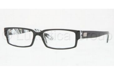 Ray-Ban Eyeglass Frames RX5144 2468-5515 - Top Black On White Horn Frame