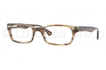 Ray-Ban Eyeglasses RX5150 with No-Line Progressive Rx Prescription Lenses 5164-4819 - Transparent Beige Brown Frame, Demo Lens Lenses