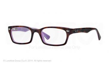 Ray-Ban Eyeglasses RX5150 with Lined Bifocal Rx Prescription Lenses 5240-48 - Top Havana On Opal Violet Frame