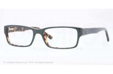 Ray-Ban Eyeglasses RX5169 with Rx Prescription Lenses 5221-52 - Top Green On Havana Frame