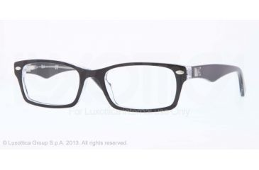 66a17c81dc Ray-Ban Eyeglasses RX5206 with Rx Prescription Lenses 2034-54 - Top Black On