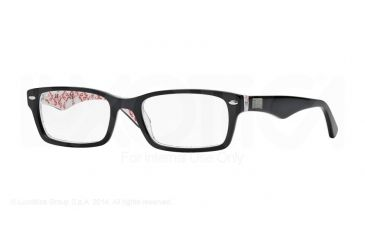 ffcac0a736eaf Ray-Ban Eyeglass Frames RX5206 5014-52 - Top Black On Texture White Frame