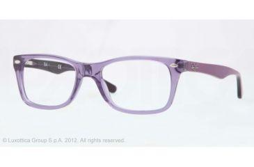 Ray-Ban Eyeglasses RX5228 with Rx Prescription Lenses 5230-50 - Trasparent Violet Frame, Demo Lens Lenses