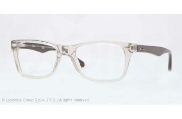 Ray-Ban Eyeglasses RX5228 with Rx Prescription Lenses 5234-50 - Trasparent Beige Frame, Demo Lens Lenses