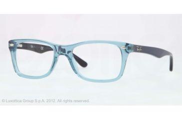 Ray-Ban Eyeglasses RX5228 with Rx Prescription Lenses 5235-50 - Trasparent Blue Frame, Demo Lens Lenses