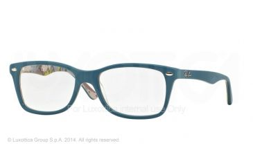 Ray-Ban Eyeglasses RX5228 with Rx Prescription Lenses 5407-50 - Top Blue On Texture Camuflage Frame
