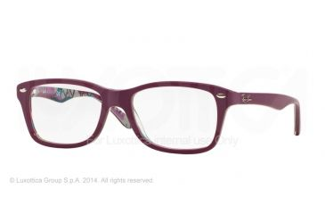 Ray-Ban Eyeglasses RX5228 with Rx Prescription Lenses 5408-50 - Top Matte Violet On Texture Ca Frame