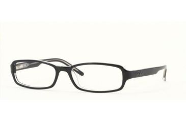 Ray-Ban Eyeglasses RX5053-2034-5216 with No-Line Progressive Rx Prescription Lenses Top Black On Transparent Ray Ban Frame
