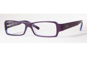 Ray-Ban Eyeglasses RX5104-2224-5013 with Rx Prescription Lenses Transparent-Violet Temple Ray Ban Frame