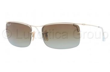 Ray-Ban FLIP OUT RB3499 Sunglasses 001/T5-5818 - Arista Frame, Polarized Brown Gradient Lenses