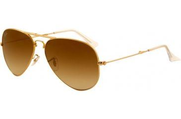 Ray-Ban Folding Aviator RB3479 Sunglasses 001/51-5514 - Arista Frame, Crystal Brown Gradient Lenses