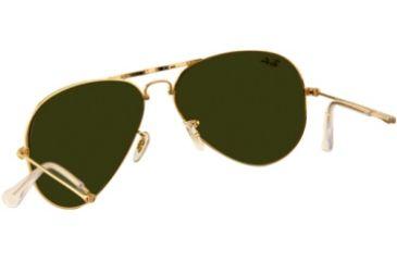 Ray-Ban Folding Aviator RB3479 Sunglasses 001/58-5514 - Arista Frame, Crystal Green Lenses