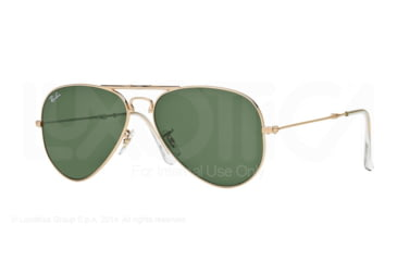 Ray-Ban Folding Aviator RB3479 Sunglasses 001-58 - Arista Frame, Crystal Green Lenses