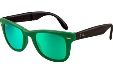 Ray-Ban Folding Wayfarer Prescription Sunglasses RB4105 RB4105-602119-5022 - Lens Diameter 50 mm, Frame Color Matte Green