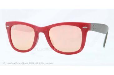 Ray-Ban Folding Wayfarer Prescription Sunglasses RB4105 RB4105-6050Z2-50 - Lens Diameter 50 mm, Frame Color Matte Red