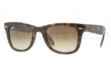 Ray-Ban Folding Wayfarer Prescription Sunglasses RB4105 RB4105-710-51-5022 - Lens Diameter: 50 mm, Frame Color: Light Havana