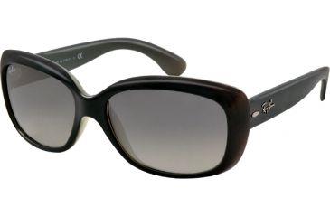 Ray-Ban Jackie OHH RB4101 Sunglasses with No-Line Progressive Rx Prescription Lenses RB4101-603771-58 - Lens Diameter 58 mm, Lens Diameter 58 mm, Frame Color Opal Grey Top Dark Grey