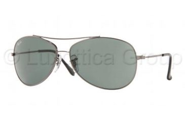 Ray-Ban Junior RJ 9515S Sunglasses Styles - Gunmetal Frame / Green 56 mm Diameter Lenses, 200-71-5613