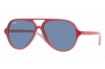 Ray Ban Junior RJ9049S #177/90 - Top Red / Fuxia On Gray Frame, Blue Lenses