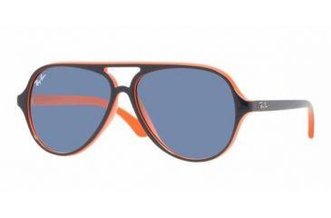 Ray Ban Junior RJ9049S #178/7B - Top Blue On Orange Frame, Blue Lenses