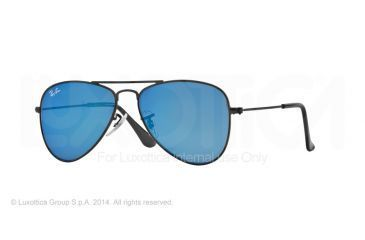 Ray-Ban Junior Sunglasses RJ9506S for Kids 201/55-50 - Matte Black Frame, Blue Mirror Lenses