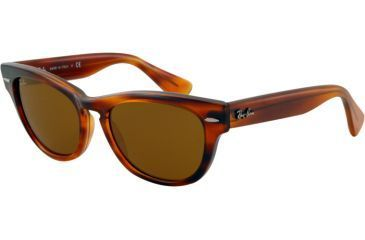 Ray-Ban LARAMIE RB4169 Single Vision Prescription Sunglasses RB4169-820-5318 - Lens Diameter 53 mm, Frame Color Striped Havana