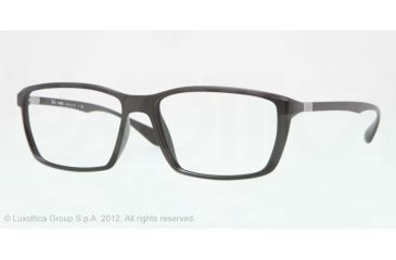 Ray-Ban LITE FORCE RX7018 Eyeglass Frames 5204-57 - Matte Grey Frame, Demo Lens Lenses