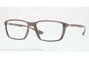 Ray-Ban LITE FORCE RX7018 Eyeglass Frames 5205-57 - Matte Brown Frame, Demo Lens Lenses