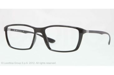 Ray-Ban LITE FORCE RX7018 Eyeglass Frames 5206-57 - Black Frame, Demo Lens Lenses