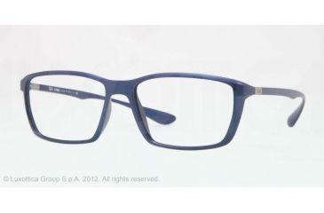 Ray-Ban LITE FORCE RX7018 Eyeglass Frames 5207-57 - Matte Blue Frame, Demo Lens Lenses
