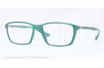 Ray-Ban LITE FORCE RX7018 Eyeglass Frames 5252-55 - Matte Green Frame