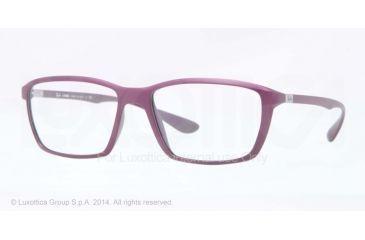 Ray-Ban LITE FORCE RX7018 Eyeglass Frames 5253-55 - Matte Cyclamin Frame