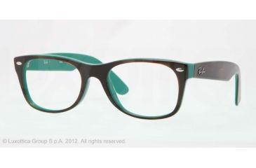 Ray-Ban New Wayfarer Eyeglass Frames RX5184 5161-50 - Top Light Havana on Green Frame, Demo Lens Lenses