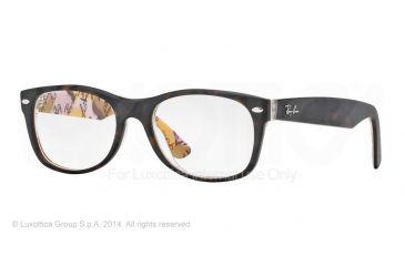 Ray-Ban New Wayfarer Eyeglasses RX5184 with No-Line Progressive Rx Prescription Lenses 5409-50 - Top Havana Su Texture Camuflag Frame
