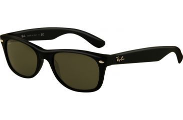 92aa4d5b52 Ray Ban Rb2132 Wayfarer Sunglasses Black Frame Crystal Green Len ...