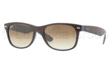Ray-Ban New Wayfarer Sunglasses RB2132 874/51-5218 - Top Brown on Blue Frame, Crystal Brown Gradient Lenses