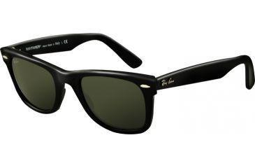 Ray-Ban Original Wayfarer Sunglasses, Black Crystal Green Frame / 50mm Lenses, 901-5022