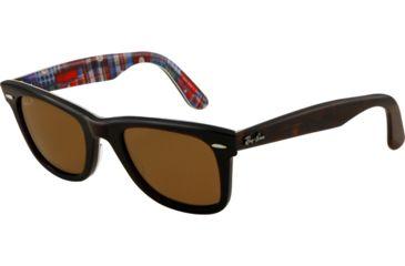 Ray-Ban Original Wayfarer Sunglasses RB2140 113257-5022 - Top Havana on Texture PL Frame, Polarized Brown Lenses