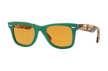 Ray-Ban Original Wayfarer Sunglasses RB2140 1240N9-50 - Green Frame, Yellow  Polar a11914d7e6