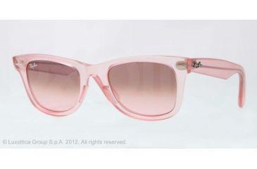 Ray-Ban Original Wayfarer RB2140 Sunglasses with No-Line Progressive Rx Prescription Lenses RB2140-6057X3-50 - Lens Diameter 50 mm, Frame Color Demi Gloss Pink