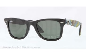 Ray-Ban Original Wayfarer RB2140 Sunglasses with No-Line Progressive Rx Prescription Lenses RB2140-6065-50 - Lens Diameter 50 mm, Frame Color Matte Black