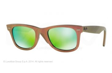 Ray-Ban Original Wayfarer RB2140 Sunglasses with No-Line Progressive Rx Prescription Lenses RB2140-611019-50 - Lens Diameter 50 mm, Frame Color Metallic Pink