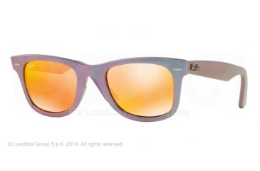 Ray-Ban Original Wayfarer RB2140 Sunglasses with No-Line Progressive Rx Prescription Lenses RB2140-611169-50 - Lens Diameter 50 mm, Frame Color Metallic Oil