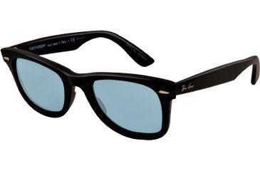Ray-Ban Original Wayfarer Sunglasses RB2140 901S3R-50 - Matte Black Frame, polar blue Lenses
