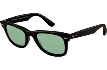 Ray-Ban Original Wayfarer Sunglasses RB2140 901SO5-50 - Matte Black Frame, polar green Lenses