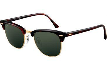 c13c36720 Ray-Ban RB3016 Bifocal Sunglasses - Mock Tortoise/Arista Crystal Green  Frame / 49
